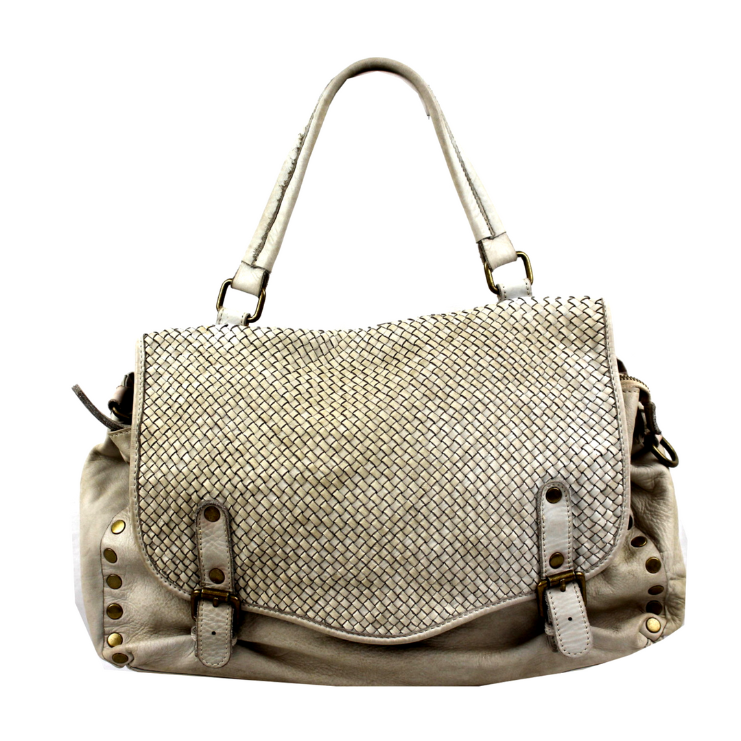 MARISA Satchel Bag Vintage White