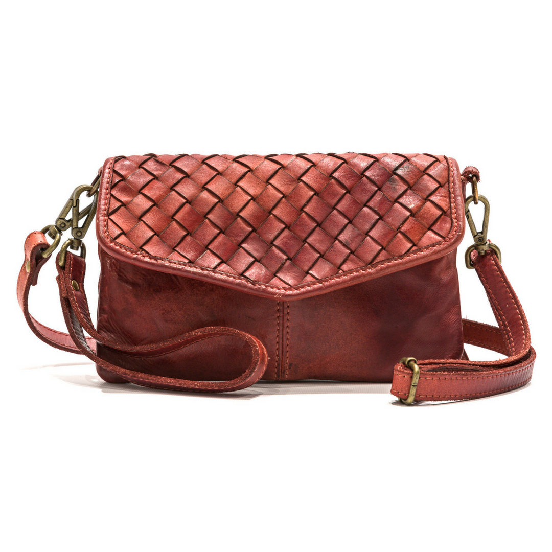 SELENE Wristlet Bag Rust