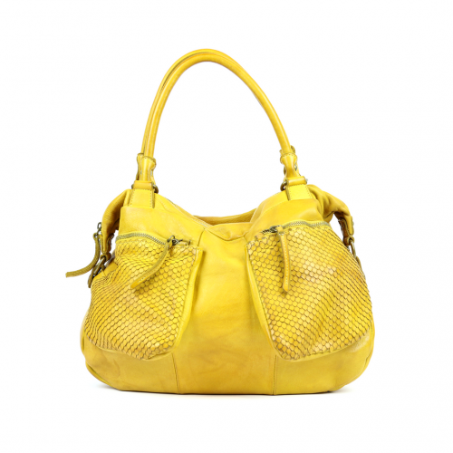 Duffle Bag Woven Yellow