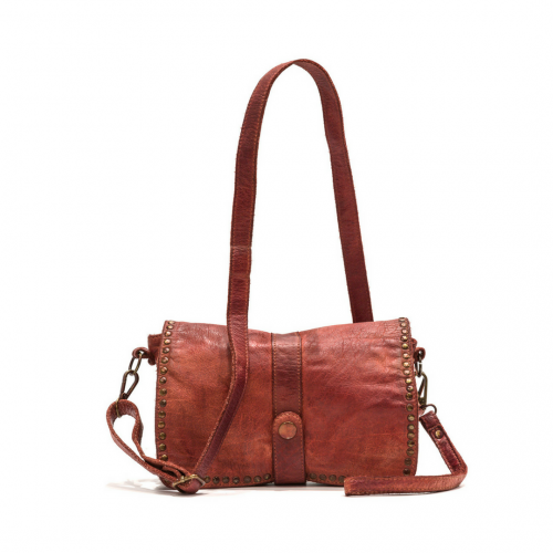 MARTINA Small Messenger Bag With Detail Rust