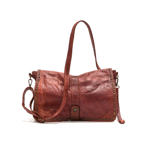 MARTA Messenger Bag With Detail Rust