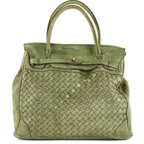 ALICIA Structured Bag Large Weave Army Green