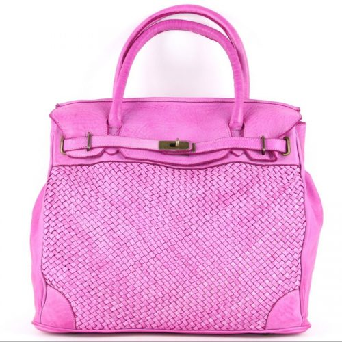 ALICIA Woven Structured Bag Fuchsia