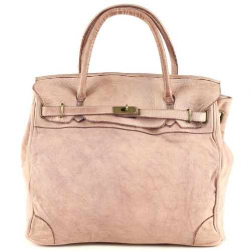 ALICIA Structured Bag With Canvas Inserts Blush