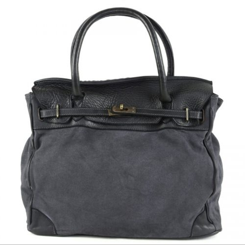 ALICIA Structured Bag With Canvas Inserts Black