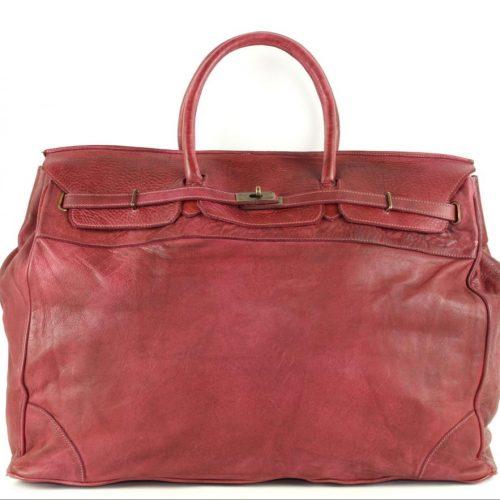 ALICE Large Tote-shaped Luggage Bag Bordeaux