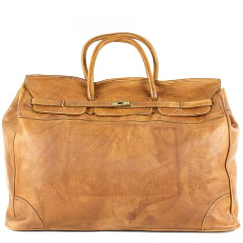 ALICE Large Tote-shaped Luggage Bag Tan