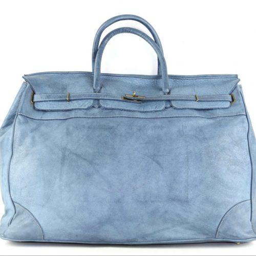 ALICE Large Tote-shaped Luggage Bag Denim