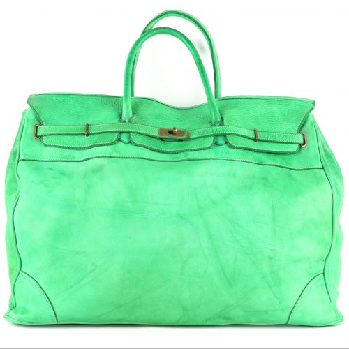 ALICE Extra Large Tote-shaped Luggage Bag Bright Green
