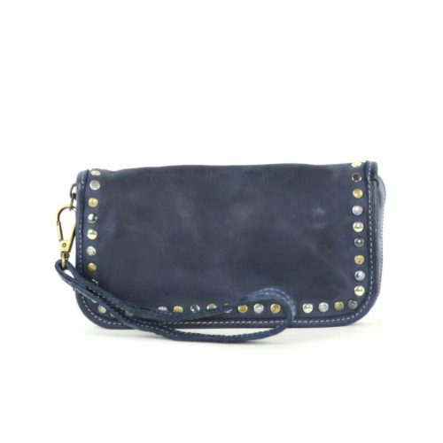 SIMONA Wrist Wallet With Studs Navy