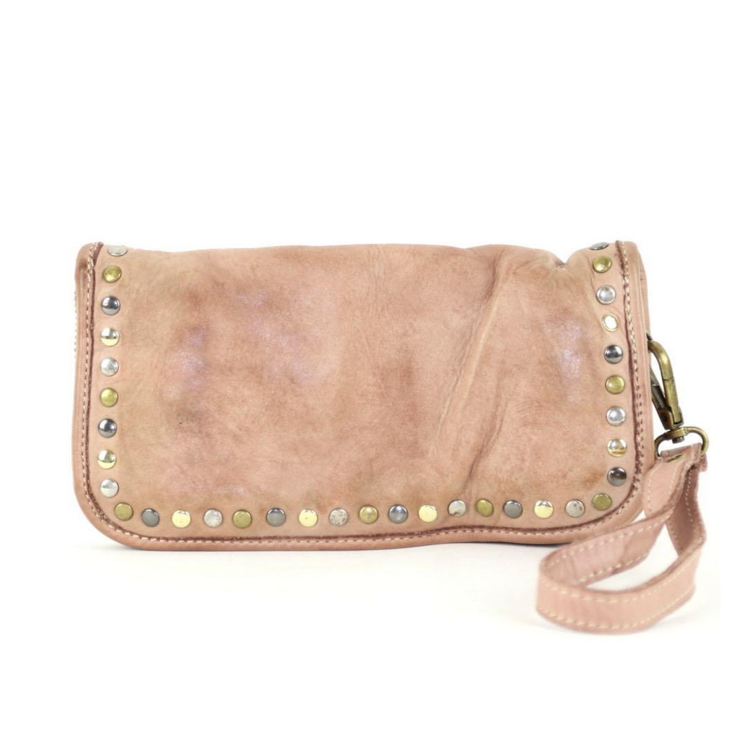 SIMONA Wrist Wallet With Studs Blush