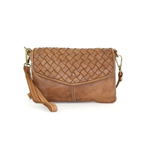 SELENE Wristlet Bag Tan