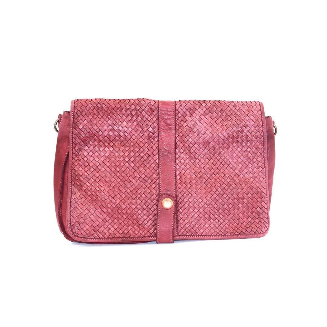 MARTINA Small Woven Messenger Bag – Various Colours