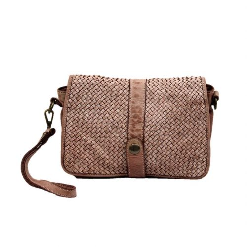 MARTINA Small Messenger Bag Woven Taupe