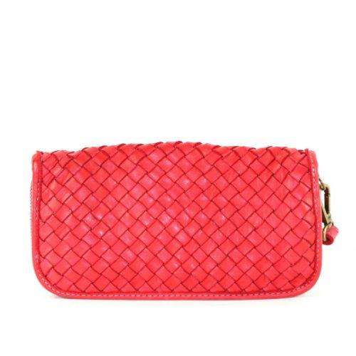 SIMONETTA Woven Wrist Wallet Red