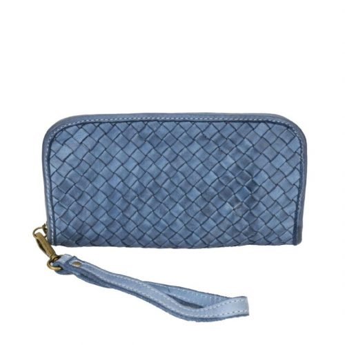 SIMONETTA Woven Wrist Wallet Denim