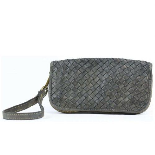 SIMONETTA Wrist Wallet Woven Grey