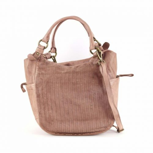 ILARIA Hobo Bag Laser Detail Blush