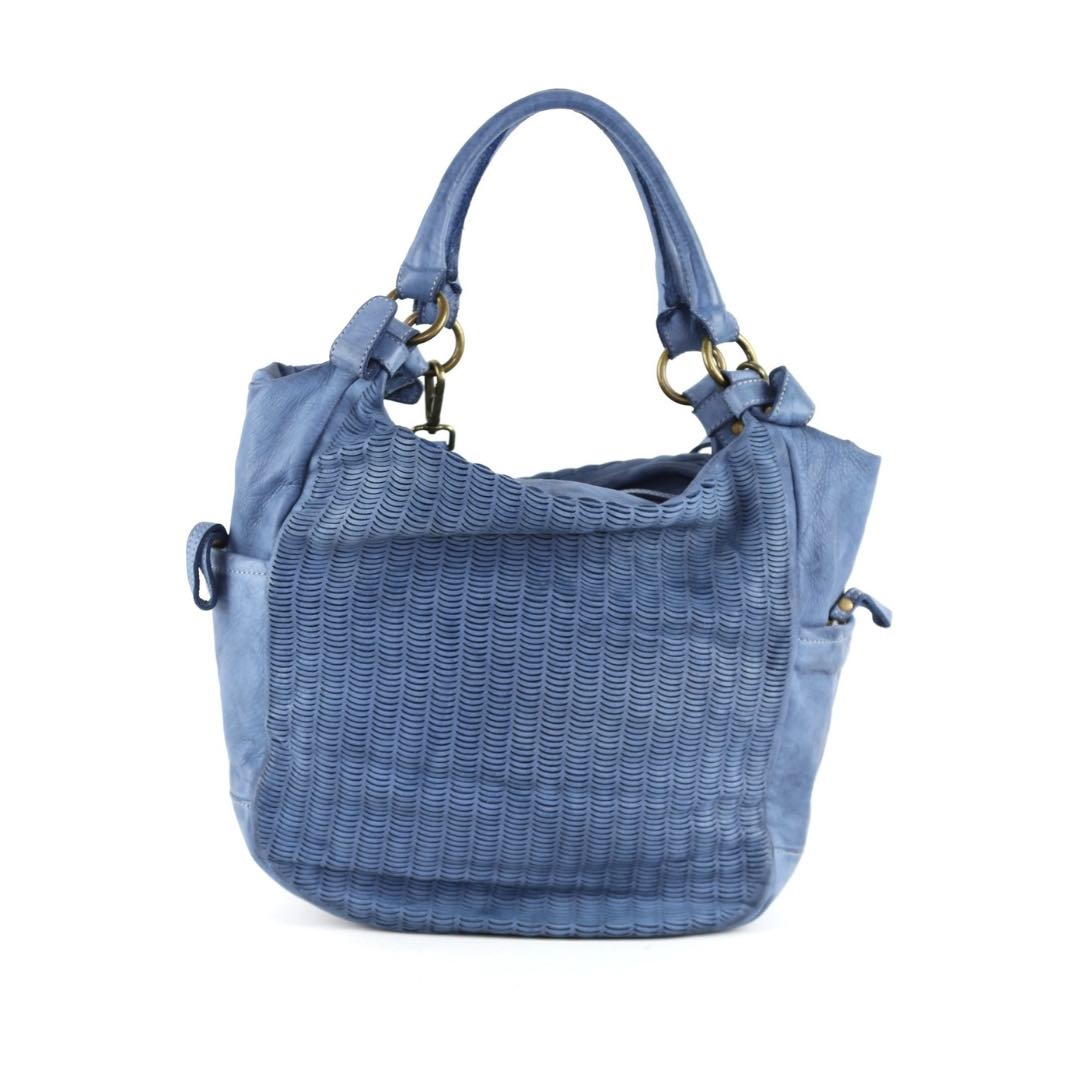 ILARIA Hobo Bag Laser Detail Denim