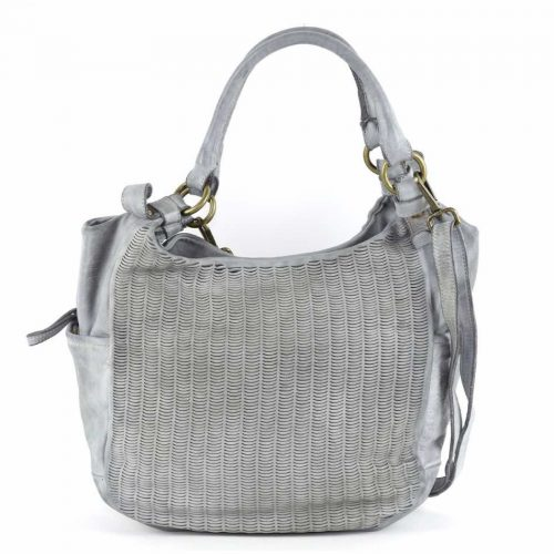 ILARIA Hobo Bag Laser Detail Light Grey