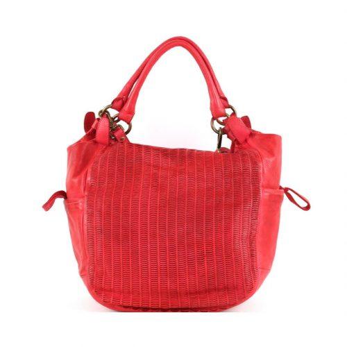 ILARIA Hobo Bag Laser Detail Red