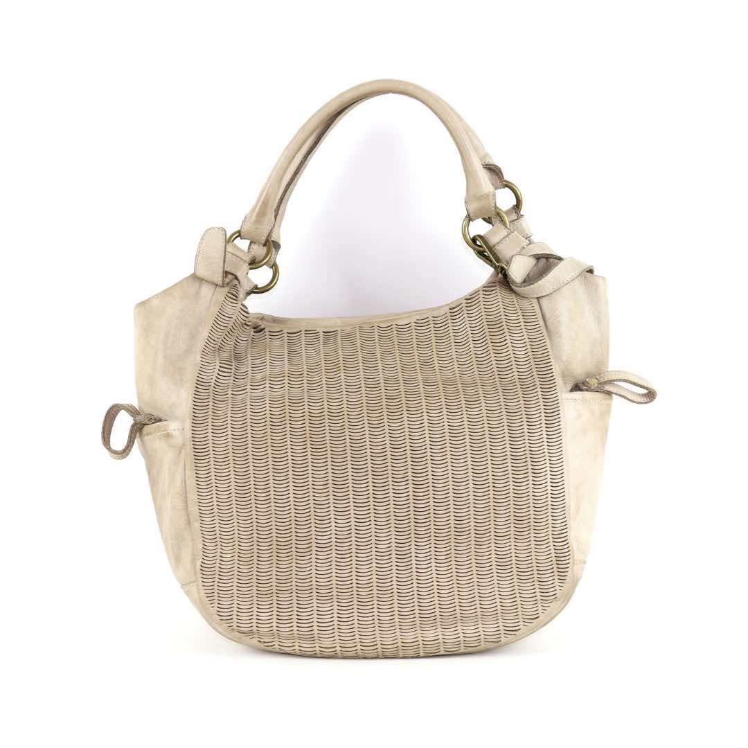 ILARIA Hobo Bag Laser Detail Stone