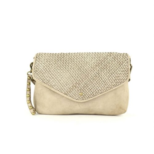 LAVINIA Envelope Clutch Bag Beige