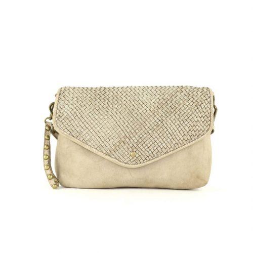 LAVINIA Envelope Clutch Bag Beige