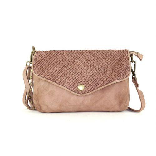 LAVINIA Envelope Clutch Bag Blush