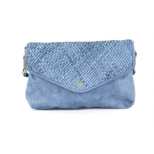 LAVINIA Envelope Clutch Bag Denim