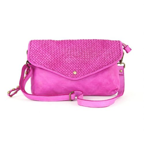 LAVINIA Envelope Clutch Bag Fuchsia