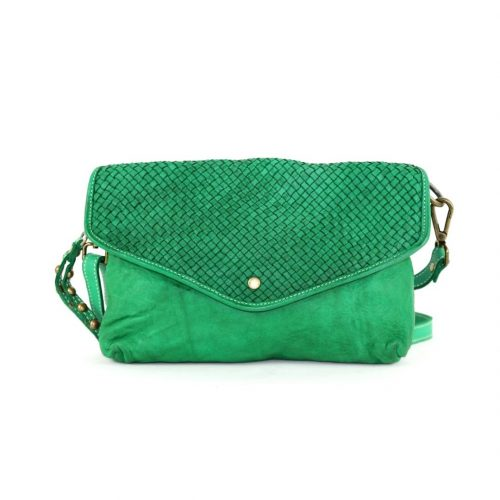 LAVINIA Envelope Clutch Bag Emerald Green