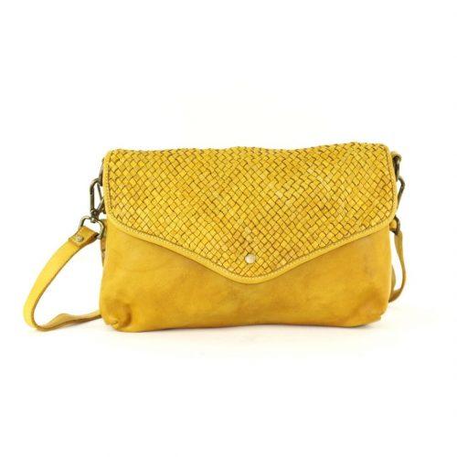 LAVINIA Envelope Clutch Bag Mustard