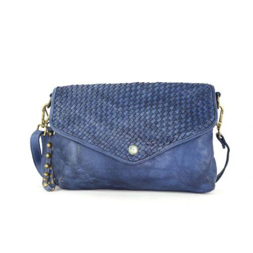 LAVINIA Envelope Clutch Bag Navy