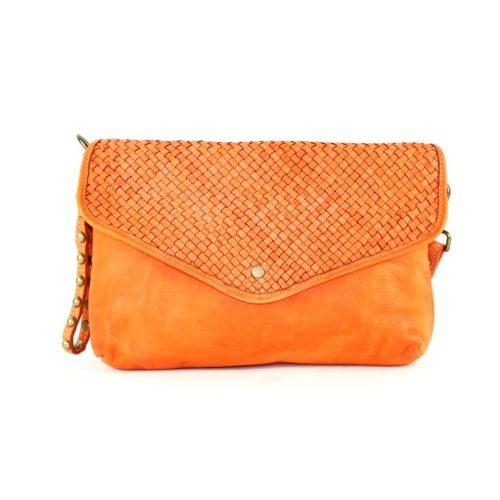 LAVINIA Envelope Clutch Bag Orange