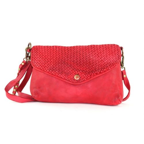 LAVINIA Envelope Clutch Bag Red