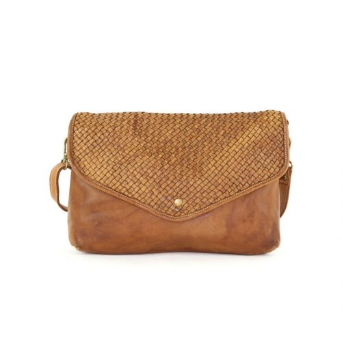 LAVINIA Envelope Clutch Bag Tan