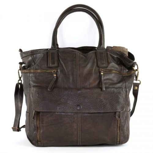 CRISTINA Shopper Dark Brown