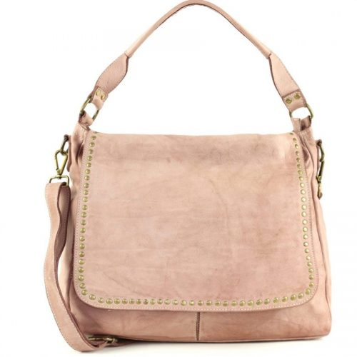 VIRGINIA Flap Bag With Top Handle Pink
