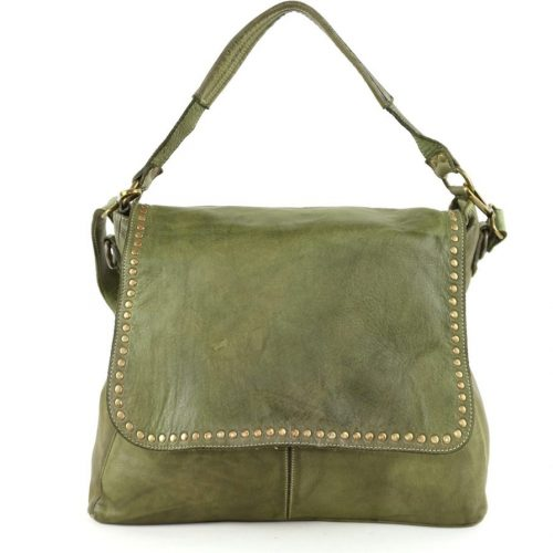 VIRGINIA Flap Bag With Top Handle Army Green