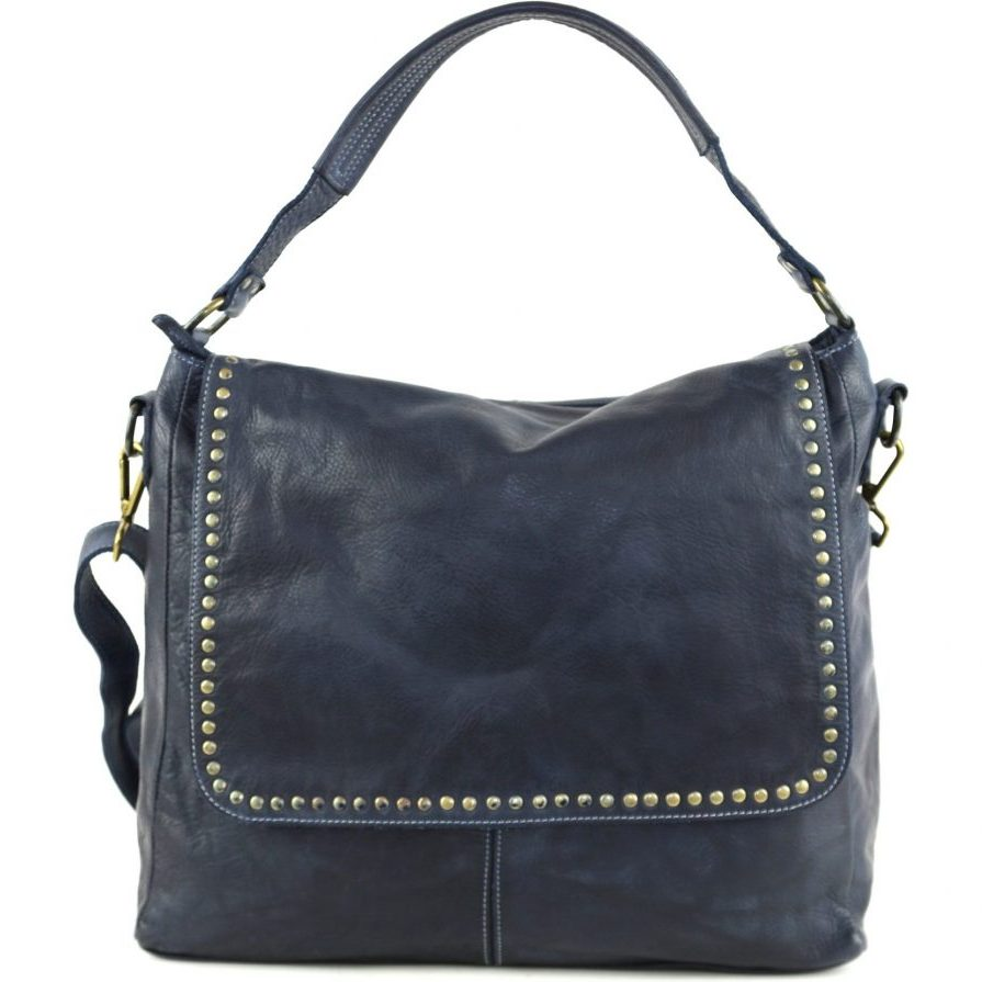 VIRGINIA Flap Bag With Top Handle Navy