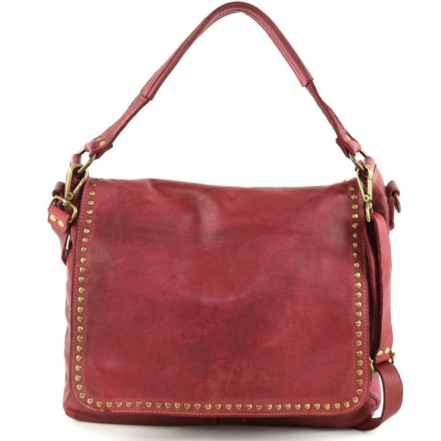 VIRGINIA Flap Bag With Top Handle Bordeaux