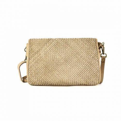 SILVIA Messenger Bag Woven Beige
