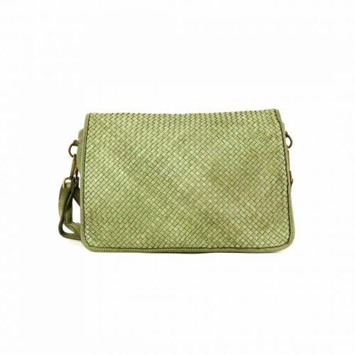 SILVIA Messenger Bag Woven Army Green
