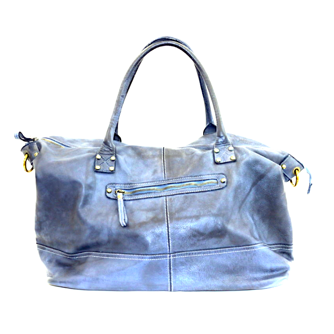 FIONA Large Duffle Weekender Travel Bag Denim