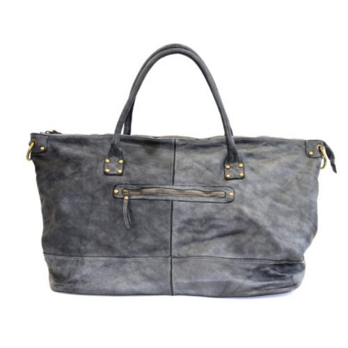 FIONA Large Duffle Weekender Travel Bag Grey