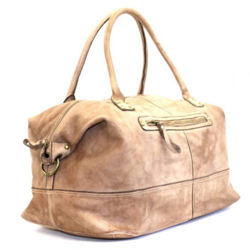 FIONA Large Duffle Weekender Travel Bag Light Brown