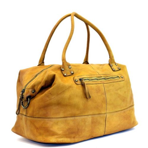 FIONA Large Duffle Weekender Travel Bag Mustard