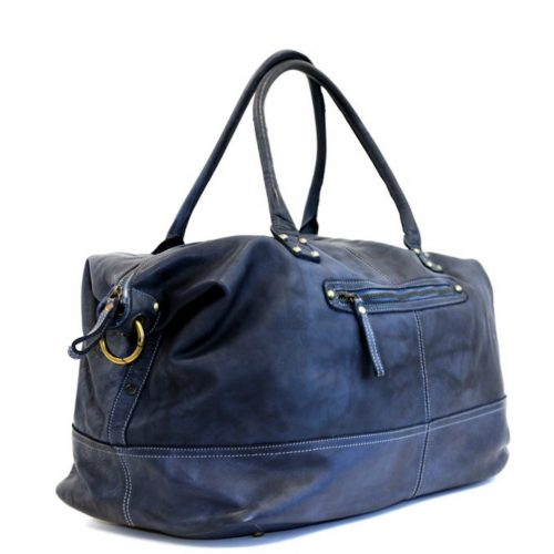 FIONA Large Duffle Weekender Travel Bag Navy