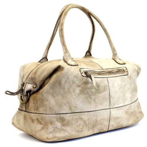FIONA Large Duffle Weekender Travel Bag Stone